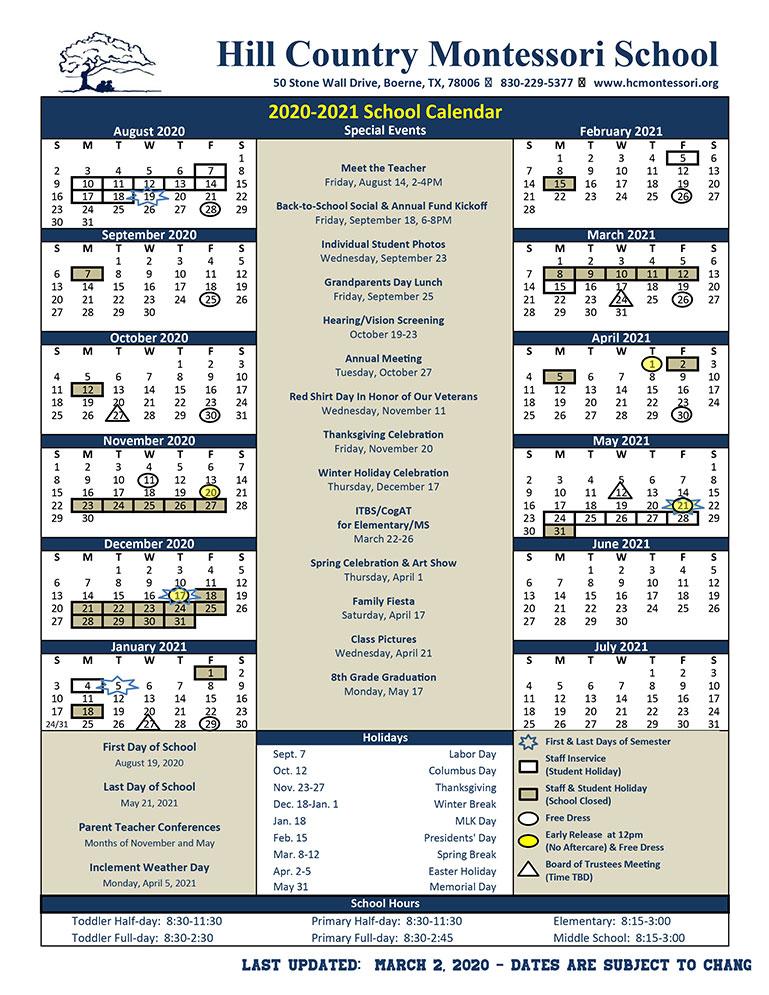 montessori-school-calendar